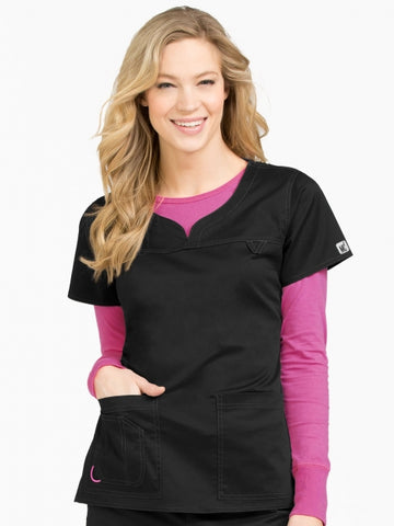 Women's Lexi Sport Neckline Solid Scrub Top - Pure Hearts Scrubs