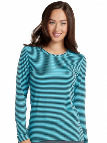 PERFORMANCE KNIT STRIPE TEE - Pure Hearts Scrubs