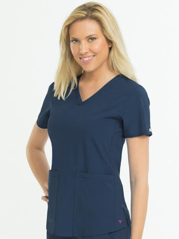 Med Couture Racerback Shirttail Top - Pure Hearts Scrubs