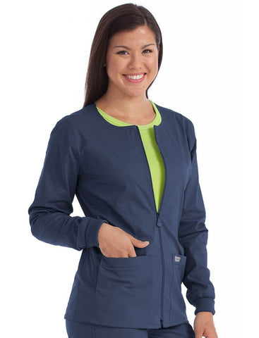 In-Seam Zip Front Jacket - Pure Hearts Scrubs