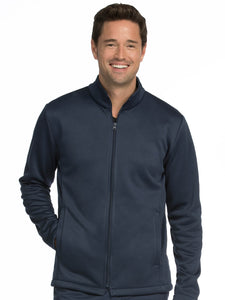Men's Med Tech Zip Up Solid Scrub Jacket - Pure Hearts Scrubs