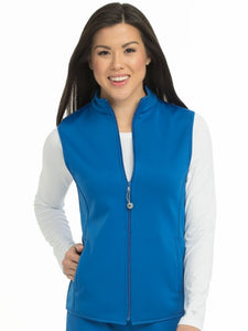 Women's Med Tech Zip Up Solid Scrub Vest - Pure Hearts Scrubs
