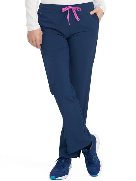 Women's Drawstring Cargo Pocket Scrub Pant Petite-Tall - Pure Hearts Scrubs