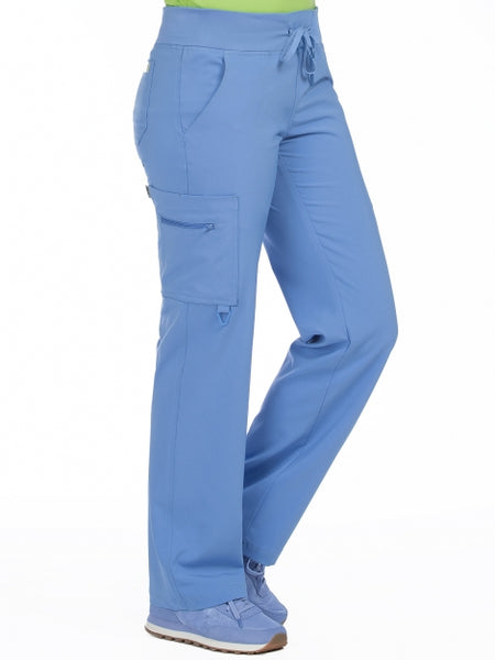 Women's Transformer Knit Waistband Drawstring Scrub Pant XXS-3X - Pure Hearts Scrubs