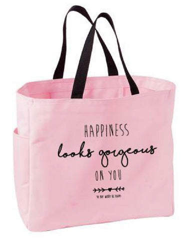 Happiness Looks Tote Bag - Pure Hearts Scrubs