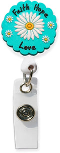 3D Rubber Retractable Badge Reel –Faith HopeLove - Pure Hearts Scrubs
