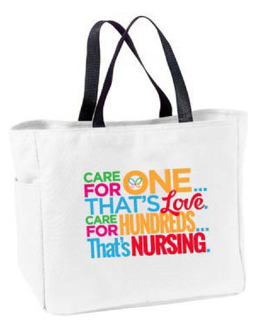 That's Nursing Tote Bag - Pure Hearts Scrubs