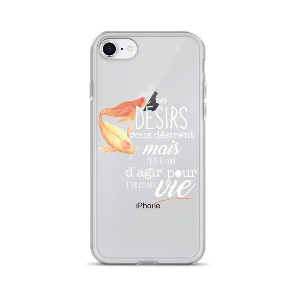 Coque iPhone - Désirs (blanc)