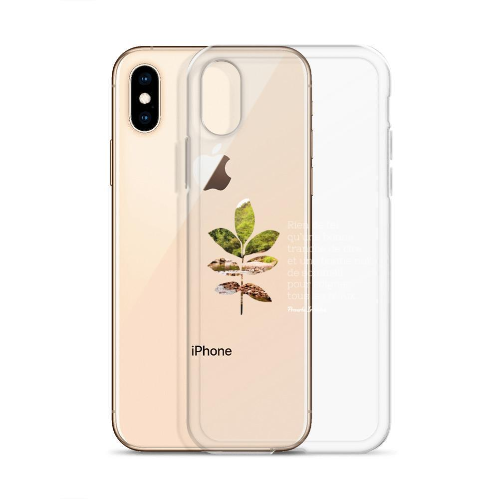 Coque iPhone - Proverbe Irlandais (blanc)