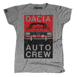 Women's Dacia Auto Crew Fire-Engine Tee