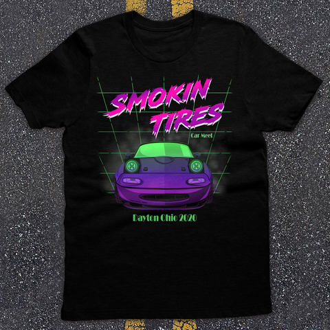 Smokin Tires Car Meet Tee