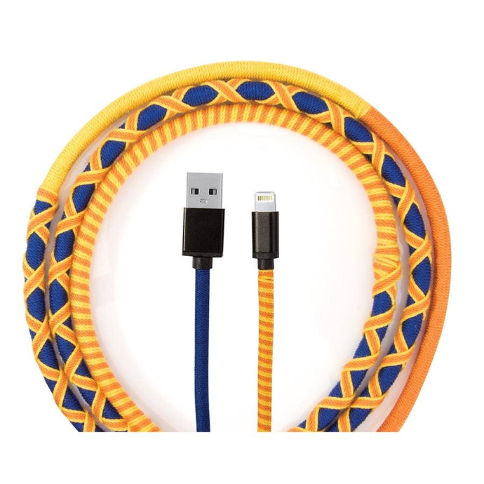 Rainbow Braided Charging Cable