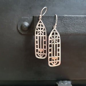 Cathedral Statement Drop Earrings Sterling Silver