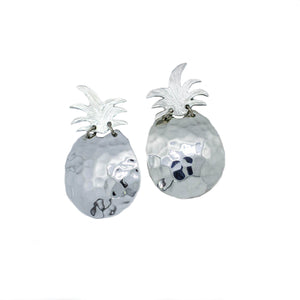 The Pineapples Stud Earrings Sterling Silver