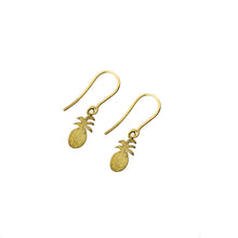 The Petite Pineapple Drop Earrings 18k Gold Plated