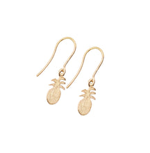 The Petite Pineapple Drop Earrings 18k Rose Gold Plated