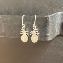 The Petite Pineapple Drop Earrings Sterling Silver
