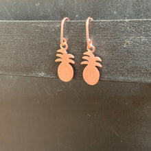 The Petite Pineapple Earrings | Rose Gold