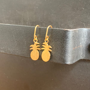 The Petite Pineapple Earrings |  Gold