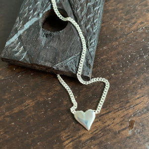 Wholehearted Heart Pendant Necklace Sterling Silver
