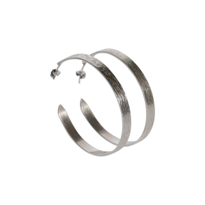 The EP Hoops Sterling Silver