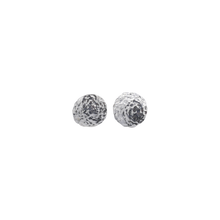 Baby T Hammered Disc Studs Sterling Silver