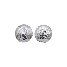 Theia Hammered Disc Studs Sterling Silver