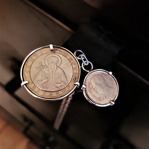Venture Double Coin Pendant Necklace