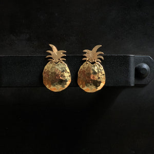 The Pineapples Stud Earrings 18k Gold Plated