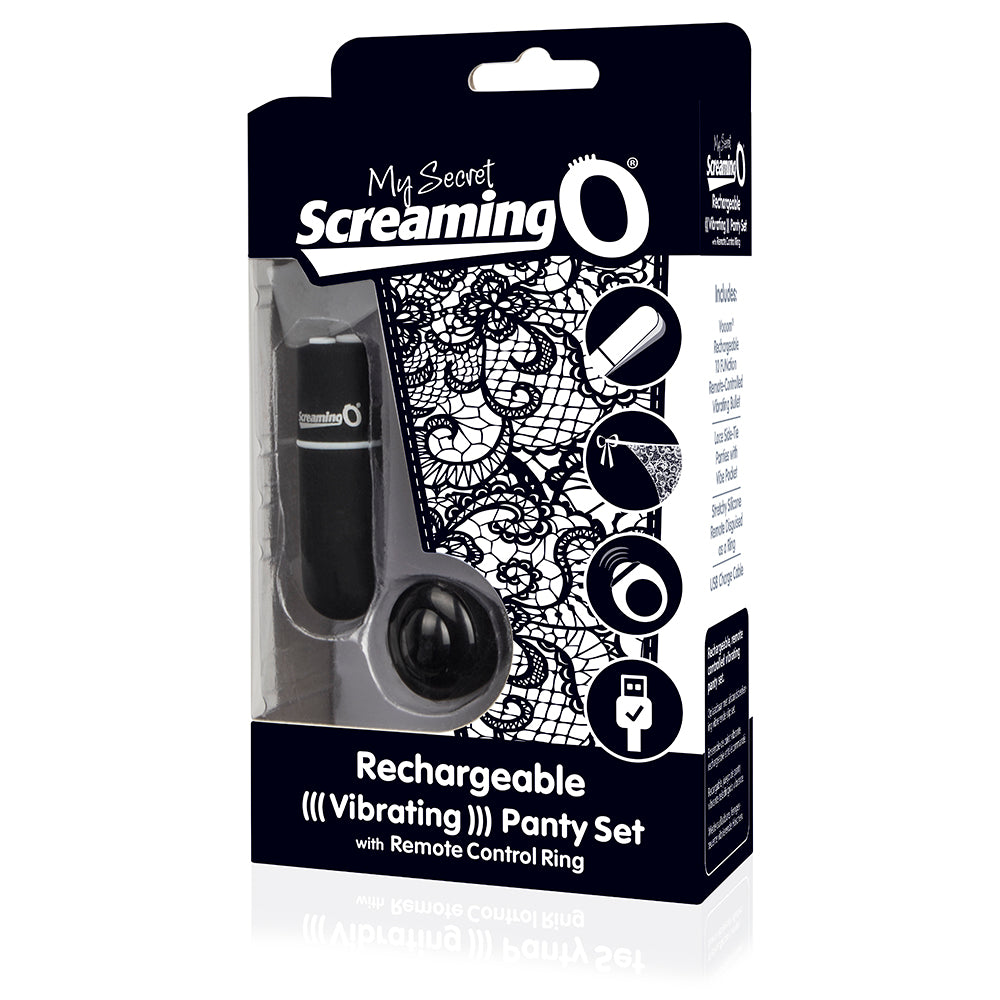 My Secret Screaming O Charged Remote Control Panty Vibe - Black