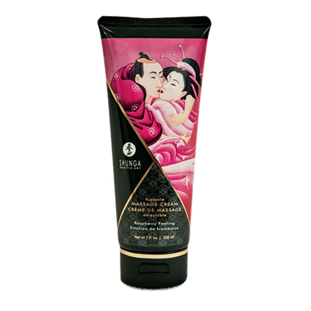 Shunga Kissable Massage Creams 200ml/7fl.oz - Raspberry Feeling