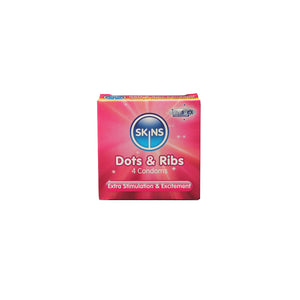 Skins Condoms Dots & Ribs 4 Pack