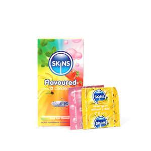 Skins Condoms Flavours 12 Pack
