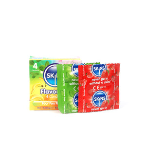 Skins Condoms Flavours 4 Pack