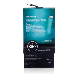 Key by Jopen Charms Petite Massager Silk Robin Egg Blue