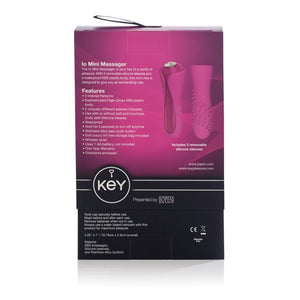 Key by Jopen Io Mini Massager Raspberry Pink