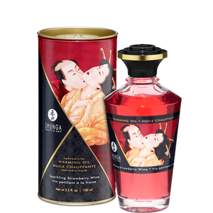 Shunga Warming Aphro Oil - Sparkling Strawberry Wine