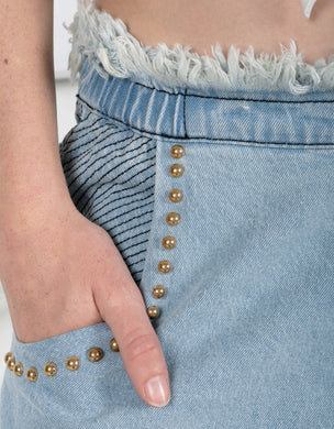 Ixiah - Sequin Triggermann Denim Pant