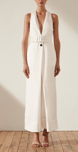 Shona Joy - GAIA LINEN PLEAT FRONT JUMPSUIT WITH BELT