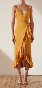 Shona Joy Wrap Dress in Saffron