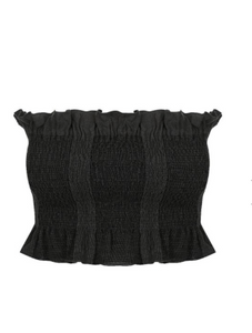 Shona Joy - Chiaro Shirred Crop Top