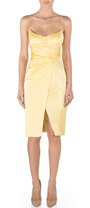 Misha- Rina Midi Dress Lemon