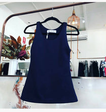 navy casual but dressy singlet long top