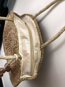 Zip To It Straw Bag