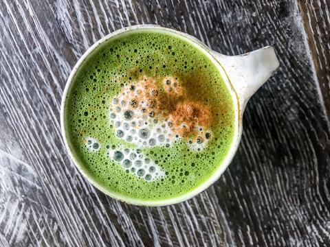 Cinnamon Maple Matcha Latte