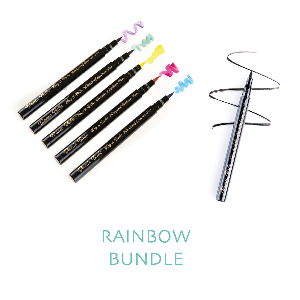 RAINBOW BUNDLE - 6 X COLOUR EYELINERS - 1 OF EACH COLOUR
