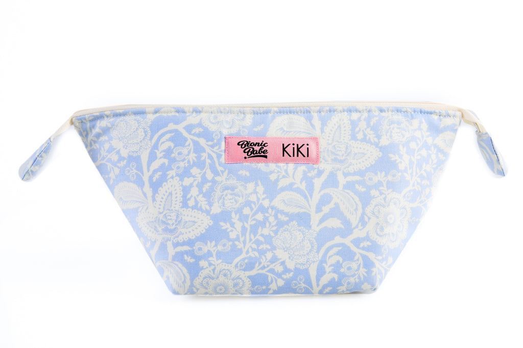 FLORAL BLUE MAKE-UP BAG