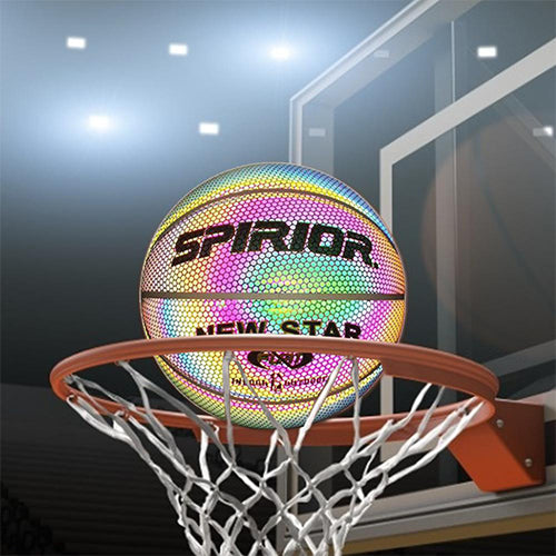 (50% OFF)Reboil Holographic Glowing Reflective Basketball