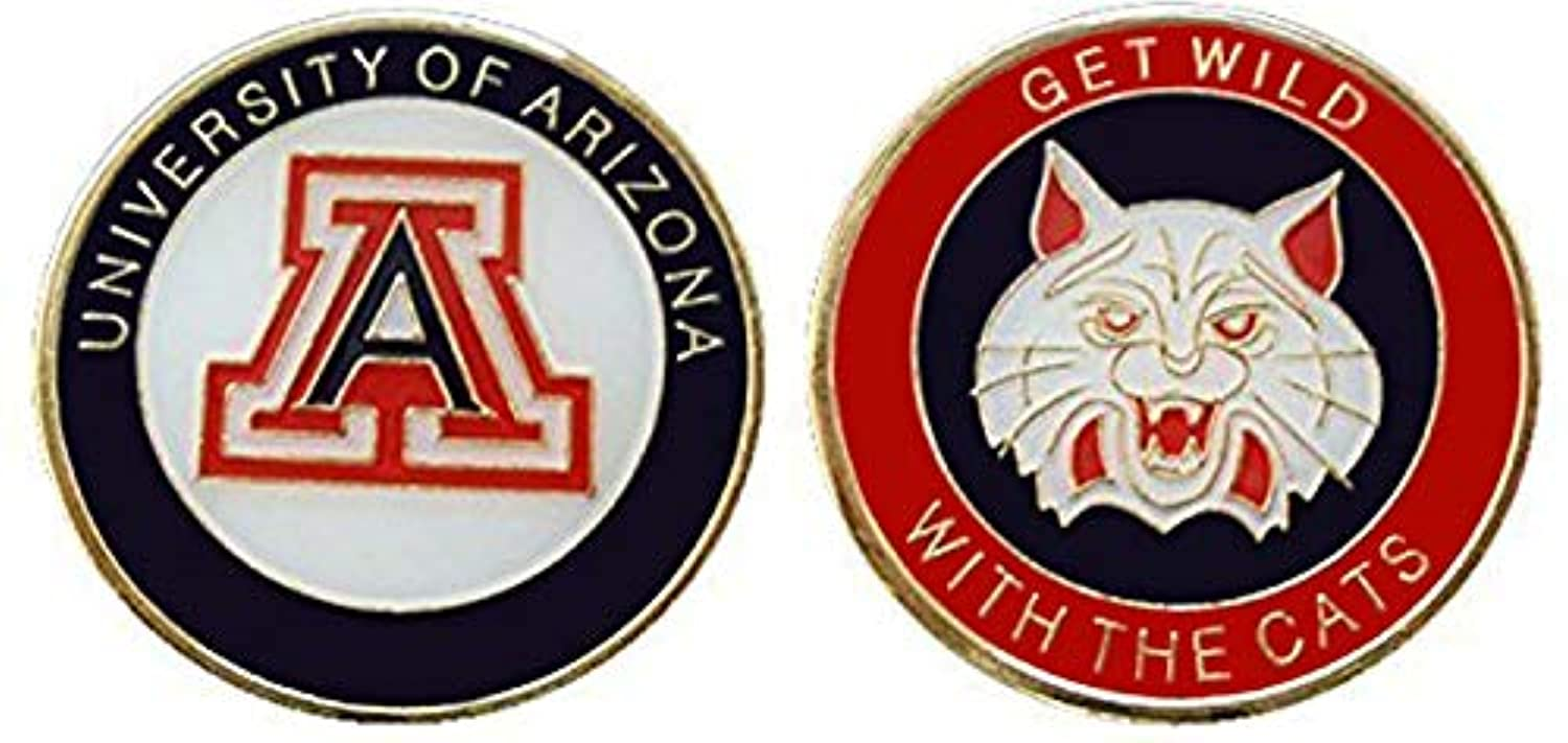 "University of Arizona ""Get Wild with The Cats"" Collectible Challenge Coin - Logo Poker - Lucky Chip"