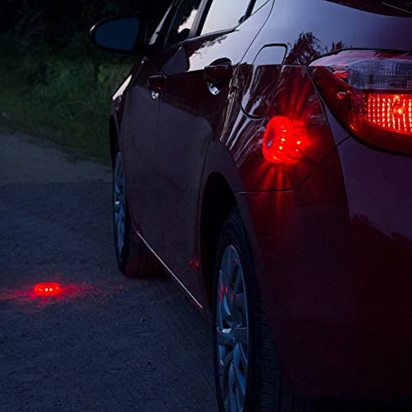 LED Roadside Safety Flare Discs 4 pk Kit